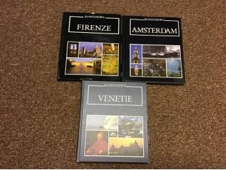 3 Prachtige ,mooie Boeken van kunststeden,unieke foto's TOP
