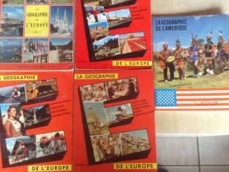 Boeken. Aardrijkskunde 4 stuks van Europa en één van Amerika