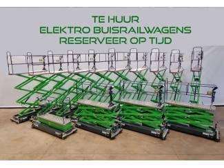 Verhuur Elektro Buisrailkarren tot 5 meter