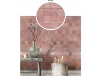 Roze mix 13x13 cm handvorm wandtegels gekleurde witjes