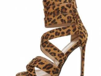 Sergio Todzi luipaard open hak sandalen 39