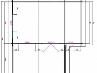 Tuinhuisjes en Meubelen Tuinhuis-Blokhut 5x4+3z: 695 x 440 x 265 (h) cm