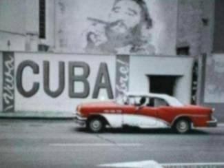 Poster Oldtimer Cuba Che Guevara Fidel Castro
