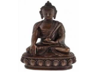 Koperen Beeldje Sakyamuni Boeddha Buddha Budha Boedha (E)