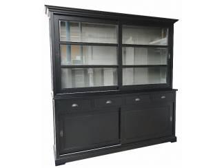 Zwarte buffetkast binnenkant grijs 200 x 210cm