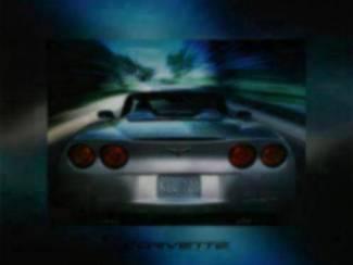 Poster Zilver Grijze Corvette Auto GM