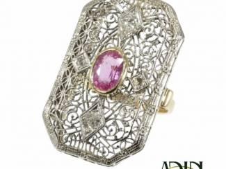 Antieke ring uit het Edwardiaanse tijdperk