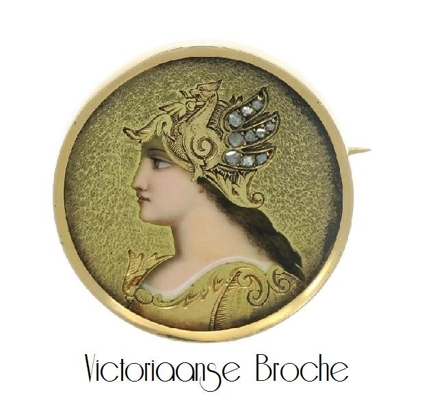 Prachtige Antieke Victoriaanse Broche   Ringen