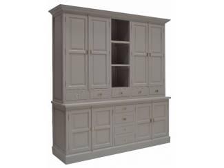 Buffetkast Laren grijs 210 x 220cm dichte deuren