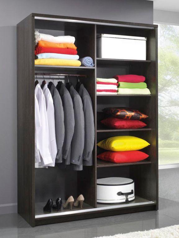 Moderne kledingkast 140 of 200 cm breed weng hoogglans wit nieu kasten en dressoirs - Kledingkast en dressoir ...