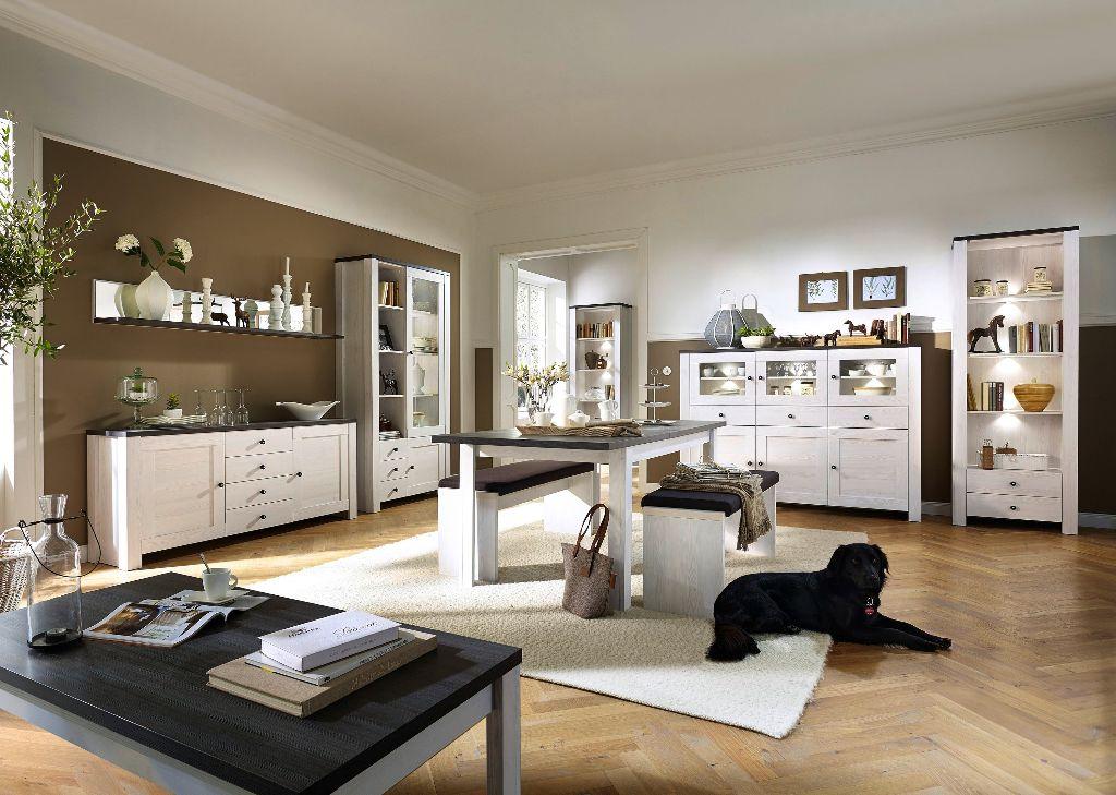 ACTIE Complete woonkamer inboedel Maison wit antraciet NIEUW ...