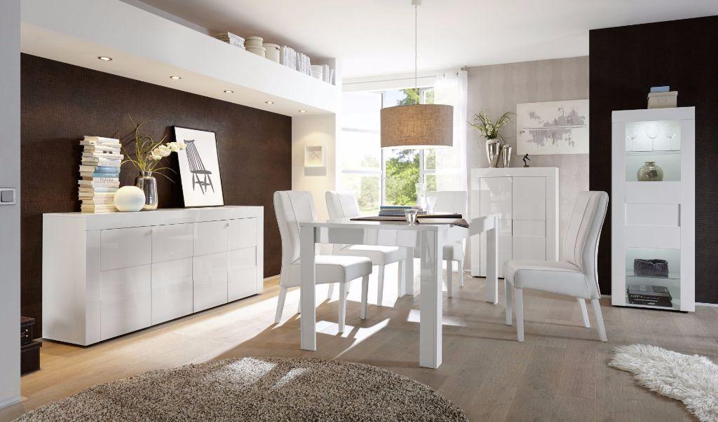 Complete woonkamer inboedel Easy betonlook hoogglans wit NIEUW ...