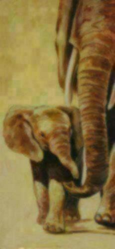 olifant met jong schilderij olifanten accessoires en