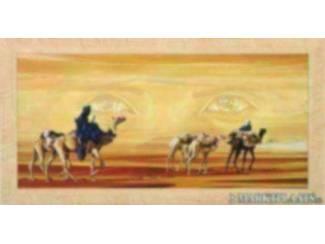 Tweeluik Schilderij Arabisch Romantisch Tafereel Woestijn