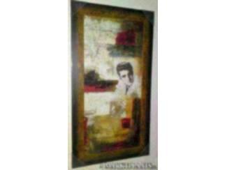 Overige Muziek en Instrumenten Schilderij Elvis Presley Abstract