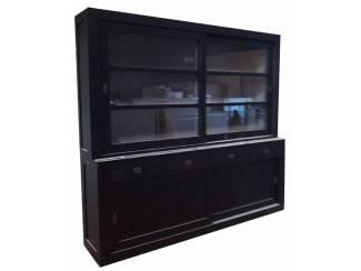 Design kast Hasselt zwart - grijs 240 x 220cm