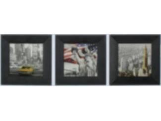 Schilderij 3L Chrysler Building Vrijheid gele cab New York