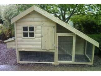 Hier te Koop Kippenhokken met en zonder ren 19 mm dik hout