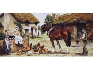 Accessoires en Decoratie Schilderijen Werk Paarden op Boerderij