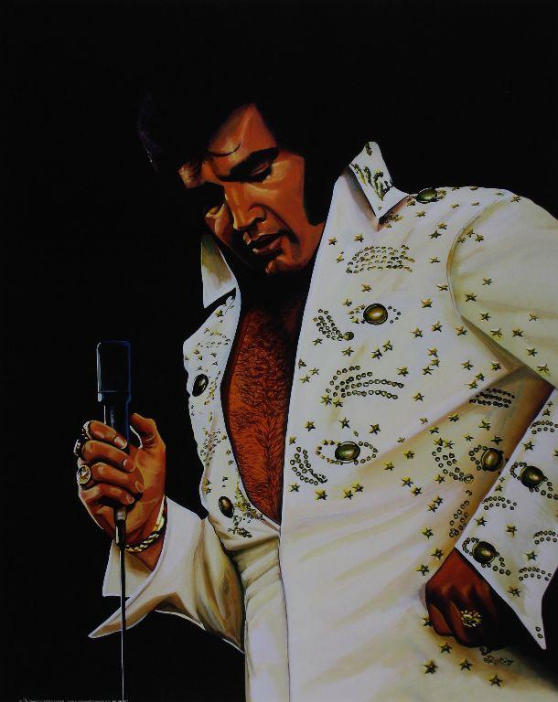 Poster Elvis Presley Live