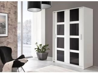 VOORRAAD Moderne witte kledingkast 140 of 200 cm NU 299 NIEUW