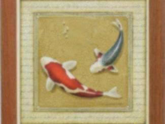 Tweeluik Schilderij Koi Karpers Koy 2 luik