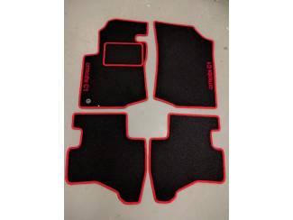 CLASSIC Velours automatten met rode rand en logo Citroen C1