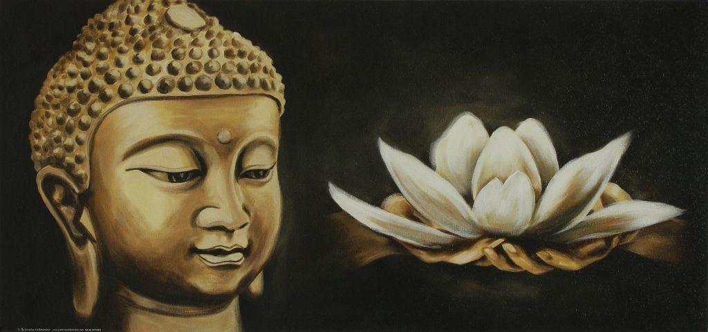 Lotus Bloem Schilderij Boedha Boeddha Buddha Budha Boeda