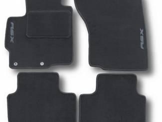 Velours automatten met logo MITSUBISHI Colt Carisma Outlander