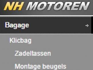 Accessoires | Koffers en Tassen Montagebeugel 8606K zwart Harley Sportster -- Klicbag