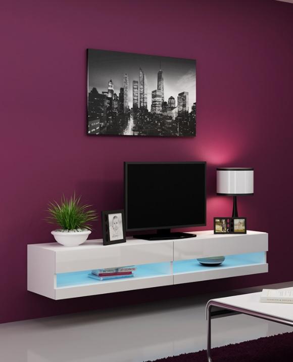 Design Tv Meubel Tweedehands.Voorraad Modern Zwevend Tv Meubel Met Led Verlichting Nieuw