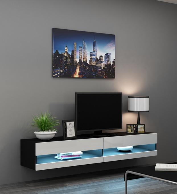 VOORRAAD Modern zwevend tv meubel met LED verlichting NIEUW   Kasten en Dressoirs