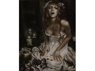 Poster Gothic Vampire Girl van Victoria Frances
