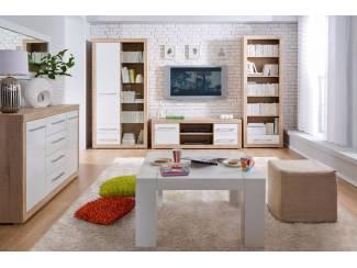 Complete woonkamer inboedel eiken hoogglans wit NU 495 NIEUW