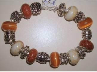 Armbanden Pandora Style bedelarmbanden met edelsteen en natuursteen E 14,95