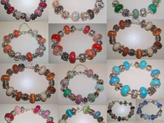 Pandora Style bedelarmbanden met edelsteen en natuursteen E 14,95