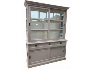 Buffetkast grijs met witte binnenkant 160 x 220cm