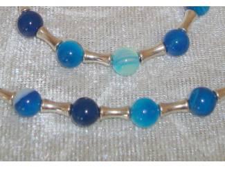 Collier van Blue Stripe agaat