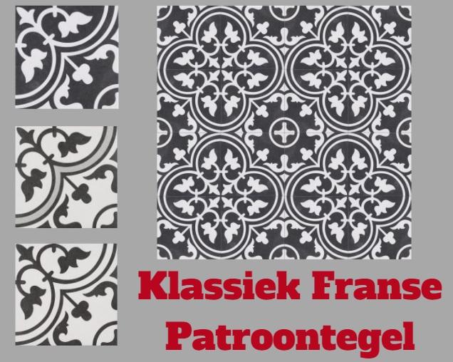 Klassiek Franse Patroontegel 25x25 cm Kopen Hal Keuken Wc...