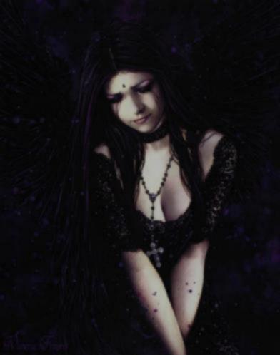 Gothic Poster Lamenting Angel van Victoria Frances