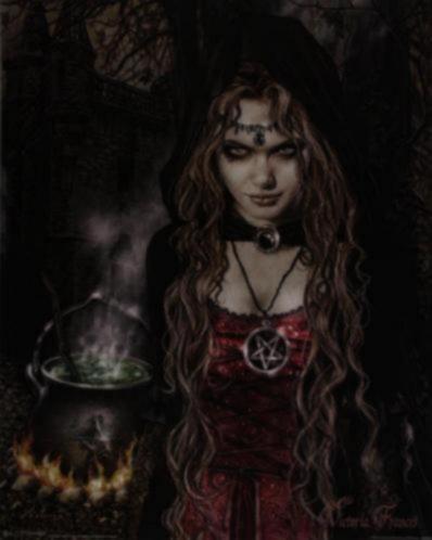 Poster Gothic Cauldron van Victoria Frances