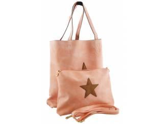 Roze bag in bag met ster van het merk brakelenzo nu 24,99
