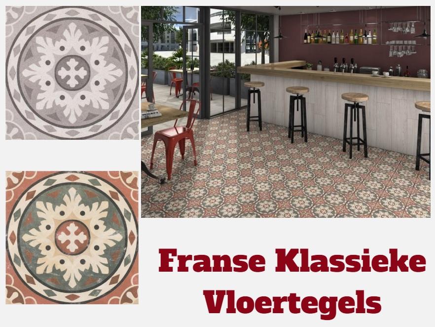 Klassieke Franse Patroontegels 25x25 cm Authentieke Tegels