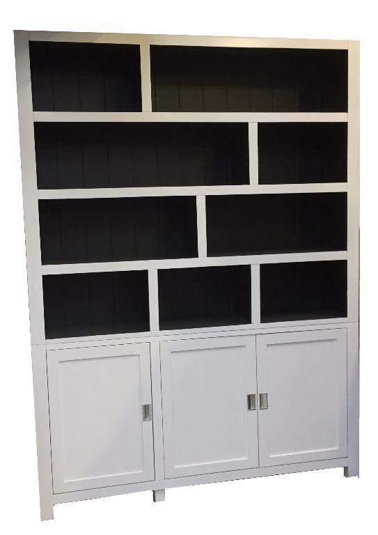 Vakkenkast design wit grijs binnen 180 x 240cm