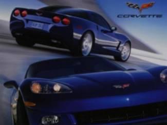 Blauwe Corvette Corvettes Auto Poster
