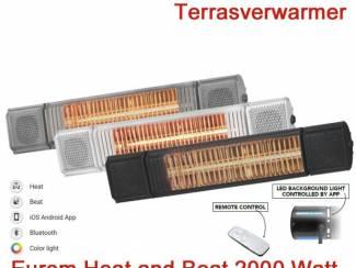 Eurom Terrasverwarmer Heat and Beat 2000 Watt in div. kleuren