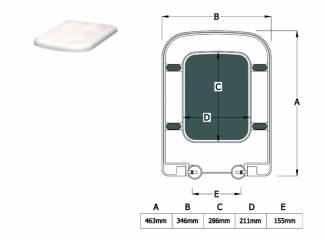 Sanifun Toilet bril Beatrisa 46,3 Wit.