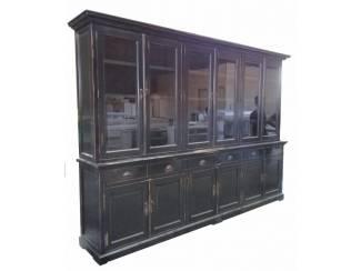 Buffetkast Mega antiek zwart geschuurd 310 x 220cm