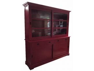 Rode buffetkast met schuifdeuren 200 x 210cm