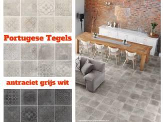 Betonlook Portugese Vloertegels Nieuw Versleten Tegels 30x30